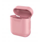 Силиконовый чехол Mavens для беспроводных наушников i10 и AirPods розовый
