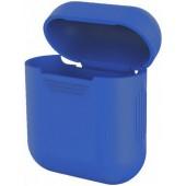Силиконовый чехол Mavens для беспроводных наушников i10 и AirPods синий