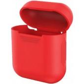 Силиконовый чехол Mavens для беспроводных наушников i10 и AirPods красный