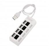 Концентратор USB HUB хаб Digital на 4 порта White