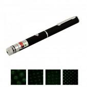 Лазерная указка Laser Green черный 1 насадка
