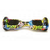 Гироборд 6,5 SmartWay с Bluetooth и колонками Yellow Graffiti с пультом