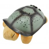 """Музыкальная черепаха """"Ночное небо"""", ночник-проектор Turtle Night Sky, персиковая"""