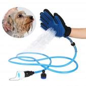 Перчатка для мойки животных Pet Wather с шлангом на 2.5 метра