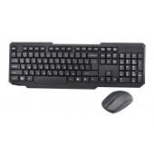 Русская беспроводная клавиатура + мышка Dellta W1080 Black