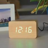 Настольные электронные цифровые часы VST 863-5 Коричневые