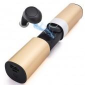 Беспроводные Bluetooth наушники - JRGK S2 TWS Stereo золотые