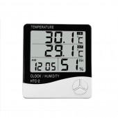 Метеостанция, Часы, Гигрометр, Влагометр Generic HTC-2 (два уровня)