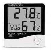 Термогигрометр UKC HTC-1 часы будильник метеостанция