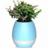 Умный цветочный горшок Smart Music Flowerpot с музыкой Голубой